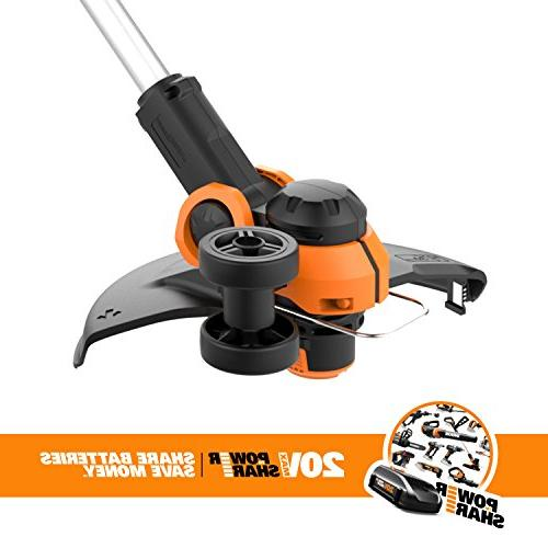 WORX Grass Trimmer/Edger Feed, TOOL battery and separately