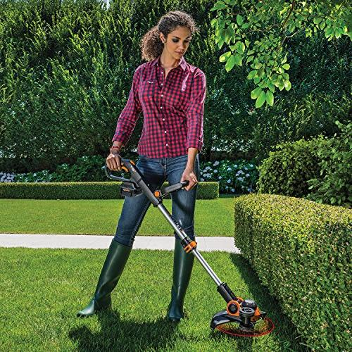 Worx Wg180 40 Volt GT3.0 Trimmer and Charger Included Cordless Grass Black