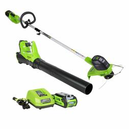 Lawn Care Electric Cordless String Grass Weed Trimmer and Bl