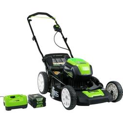 "GreenWorks 80-volt 21"" Lawn Mower 4.0ah Battery & Charger #2"