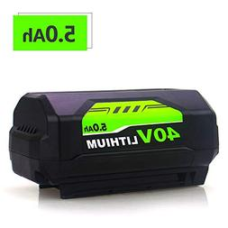 5000mAh High Capacity Replace for Ryobi 40V Battery Lithium