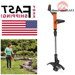 BLACK+DECKER LST522 20V MAX Lithium 2-Speed String Trimmer/E