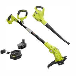 ONE+ 18-Volt Lithium-Ion String Trimmer/Edger and Blower/Swe