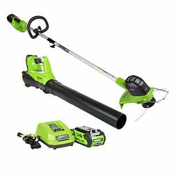 GreenWorks STBA40B210 G-MAX 40V Cordless String Trimmer and
