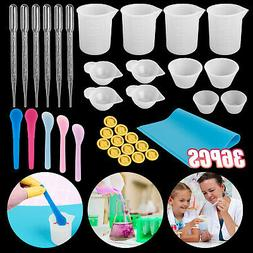 Hot 98Pcs Resin Casting Molds Tool Kit Silicone Making Jewel