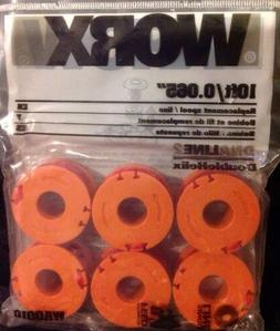 Worx trimmer String line 6 pack, New For WG150, wg151 and mo