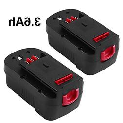 HPB18 3.6Ah Replace for Black and Decker 18 Volt Battery Ni