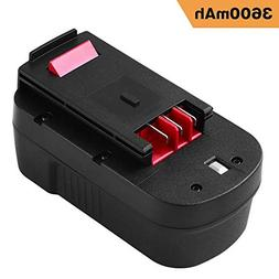 Upgraded 3600mAh HPB18 Replacement for Black and Decker 18V