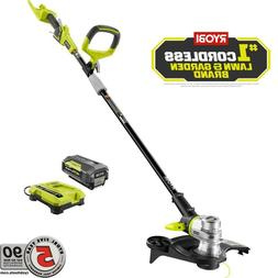 Electric Cordless String Lawn Grass Weed Trimmer w Battery C