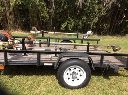 Weed Eater , Edger Trimmer trailer Racks LOCKABLE Weedeater