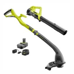 Weed Eater String Trimmer Edger Blower Combo Kit Battery and
